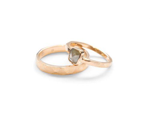 Grof gevijlde ringen – Antiek roosdiamant